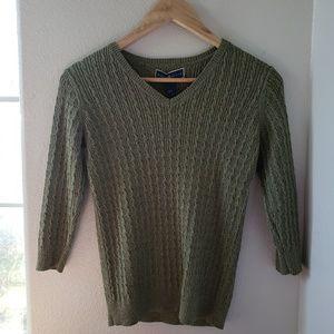 🦋 Karen Scott green sweater